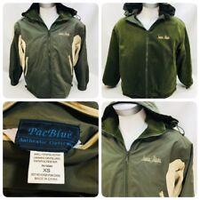 PacBlue Men's Jacket Sz XS Reversible Green Fleece Alaska Zip Up Fall Winter  OC