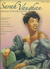 "SARAH VAUGHAN "" ORIGINAL KEYS FOR SINGERS "" SONGBOOK PIANO/VOCAL NEW ON SALE"