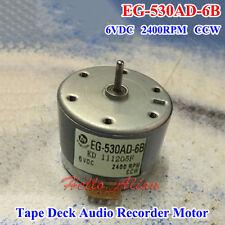 EG-530AD-6B DC 6V 2400RPM CCW Tape Deck Recorder Audio Motor Round Capstan Motor
