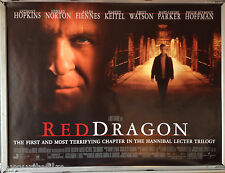 Cinema Poster: RED DRAGON 2002 (Main Quad) Anthony Hopkins Edward Norton