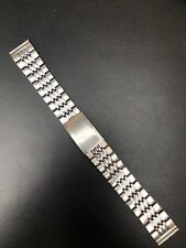 18mm Vintage Beads Of Rice BEAR Watch Bracelet Band Straight Ends