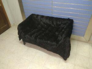Luxury Brown Sable Fur Throw Real Russian Sable Bedspread Blanket Sobol
