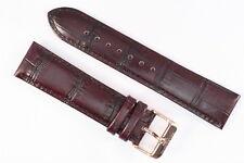 Original s.Oliver Selection Uhrenarmband 22mm Braun Kalbsleder Rot-Gold Schließe
