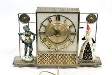 Enesco Vintage Electric Backlit Clock Knight & Damsel in Distress Rare USA Made