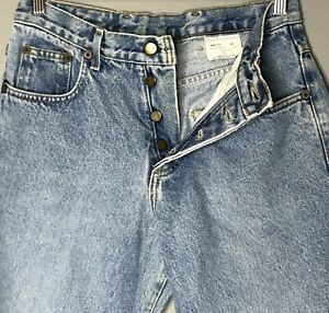 Vintage E.N.U.F. High Rise Button Fly Light Wash Denim Blue Jeans Women's Size 5