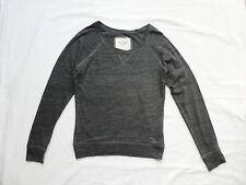 Abercrombie & Fitch - leichtes Langarm-Shirt, Gr. XS, grau