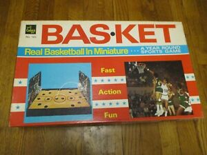 Vintage Bas-ket Basketball In Miniature Cadaco Game No 165 Sports 1970 USA