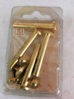 4 Vis Jonction Meubles MM 5x40 Laiton Poli Vis Slotted Vis Meuble