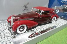 Modellino Delage D8-120 Cabriolet 1939 Rosso scuro in resina Minichamps