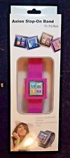NEW AXION WRISTWATCH SLAP ON BAND FOR IPOD NANO 6TH GENERATION PINK AN-1114