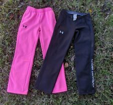 Lot of 2 Under Armour ColdGear STORM Girls Medium Graphic Fleece Athletic Pants