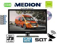 "Medion LKW TV 12-24 Volt & 230V Betrieb DVB-C/S2/T2 HD 15,6""Zoll 39cm DVD-Player"