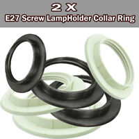 2xE27 Screw Lampshade Lamp Light Shade Collar Ring Adapter Bulb Holder 2 Color