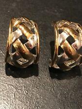 Earrings Gold & Silver Tone Vintage Lci Liz Claiborne Pierced 1�