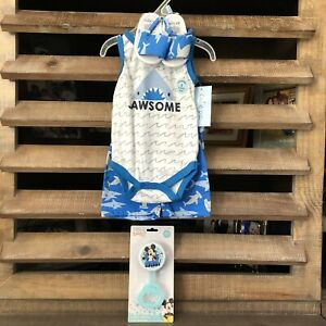 NWT Infant Boy 3-6 Mos 3PC Summer Outfit&Disney Baby Rattle CB-C3