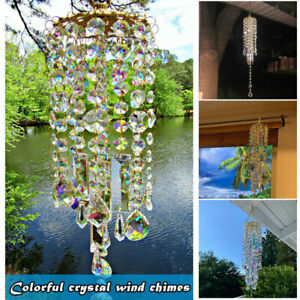 Colorful Crystal Wind Chimes Perfect Addition to Your Garden Patio Lawn Gift