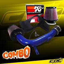For 08-14 Impreza WRX/STI 2.5L 4cyl Blue Cold Air Intake + K&N Air Filter