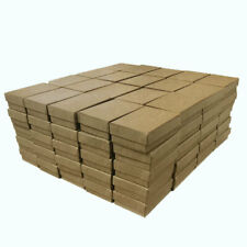 100 Brown Kraft Cotton Filled Jewelry Packaging Gift Boxes Earrings Pendants