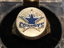 DALLAS COWBOYS HAND PAINTED SCULPTURED PEWTER RING WITH TEAM LOGO SIZE 14 NEW