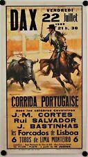 Affiche Tauromachie Corrida Portugaise DAX 1983 BALLESTAR
