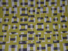 Villa Nova Ida Quince Fabric Material 50s Retro Green Grey Curtains Cushions