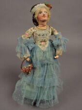 1800s? Old 13 inch LITTLE WOMEN MEG Handmade Paper Mache Doll LOUISA MAY ALCOTT
