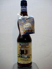 "Fabbri ""Fantasy in Caffe"" Vanilla Flavoring Syrup - Case of 6 bottles - 560ml"