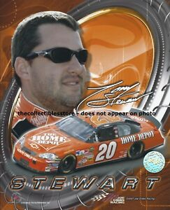 TONY STEWART SMOKE HOME DEPOT JOE GIBBS RACING REPLICA SIGNED NASCAR PHOTO #03