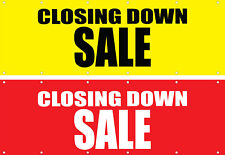 Closing Down Sale Choice Option PVC Vinyl Banner Flag 2400x800mm FastDelivery
