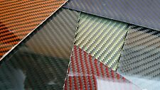 "Carbon Fiber Kevlar Fiberglass Panel 6""×18""×3/16"" Glossy Both Sides COLOR CHOICE"