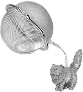 ppc00 Persian Cat  2 inch Tea Ball Mesh Infuser Stainless Strainer