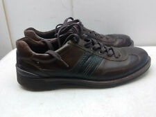 ECCO Brown Leather Lace Up Oxford Sneaker Casual Driving Fashion Men Shoe 11M 45