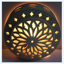 Vintage Art Pottery Free Standing or Wall Lamp, Light, Natural, Cut, Arabian