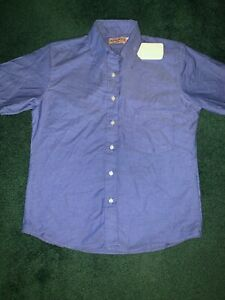 NWT Ladies size 6 Short Sleeve Work shirt Red Cap Industrial