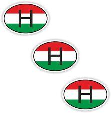3x Ovale Drapeau Autocollants Hongrie petit code de pays pour ordinateur portable smartphone case