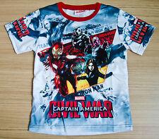 Marvel CIVIL WAR captain America Boys Girls Kids T Shirt Size 6 Age 2-4 #05 NEW