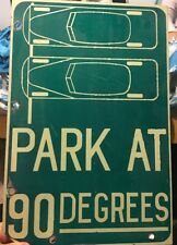 Vintage San Francisco California Park At 90 Degrees Porcelain Street Sign