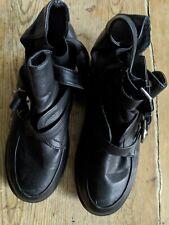 Salt and Pepper Black Ankle Shoes Boots 1.25 Block Heel Size 5 EU38