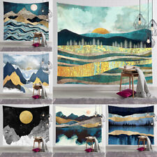 Mountain Nature Landscape Sunset Tapestry Wall Hanging Blanket for Room 22 style