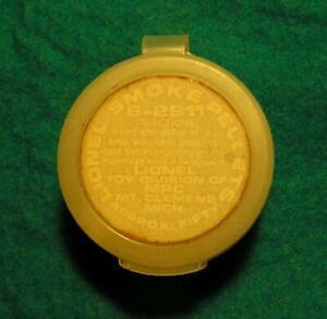 LIONEL #6-2911 SMOKE PELLETS IN ORIGINAL PLASTIC SNAP TOP CONTAINER - 1970-73