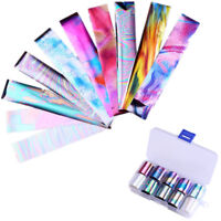 10pcs Holographic Nail Foil Starry Sky Paper AB Color Nail Art Transfer Stickers