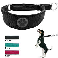 Mesh Martingale Reflective Pet Dog Collar Safety for Training Large Dogs 3 Sizes