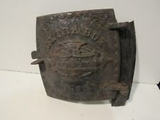 Vintage Extra Box 1878 front door for antique wood stove cast iron