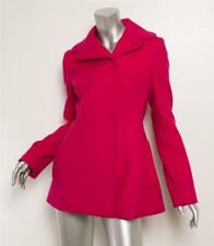 DOLCE & GABBANA Magenta Pink Wool Double Breasted Peacoat Coat Jacket 6-42 NEW