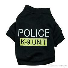 Dog Black POLICE K9 Puppy Clothes T-Shirt Coat Vest Top Warm M