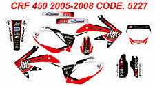 5227 HONDA CRF 450 2005-2008 Autocollants Déco Graphics Stickers Decals Kit