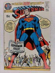 Superman #240 VF/NM 9.0 HIGH GRADE  Superman Fails