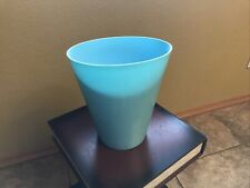 Turquoise Waste Bin / Trash Container Free Shipping