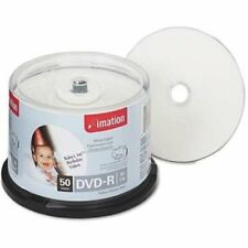 Imation DVD-R 4.7GB 16X White Thermal Hub Printable 50-Pack Cake Box