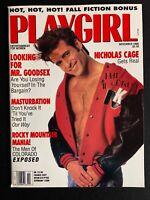 Playgirl Magazine November 1990 - Nicholas Cage, Maxine Elliott Marten